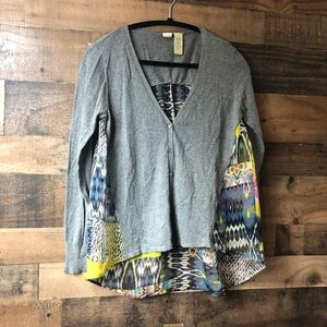 Anthropologie Yellow Bird Sheer Back Cardigan